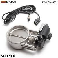 "EPMAN - 1pc 3""/76mm Exhaust Control Valve/ Exhaust Gas Recirculated For Exhaust Catback Downpipe  EP-CUT001A30"